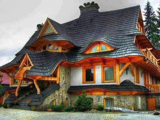 Photo of wooden houses