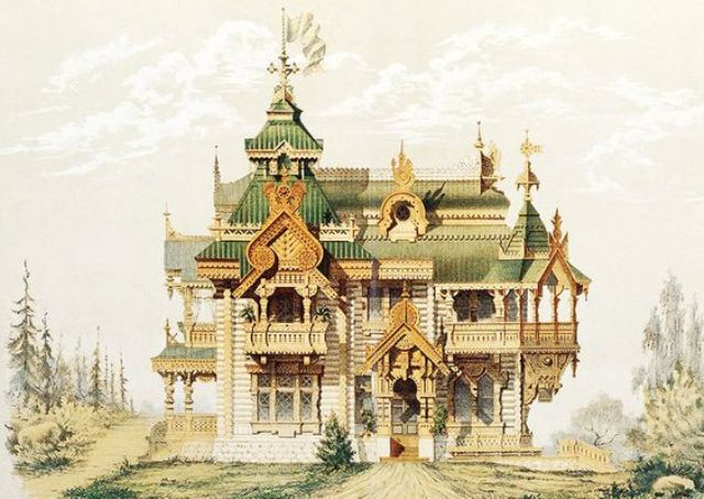 Finishing a wooden house in the Russian style (photo project of the 19th century)